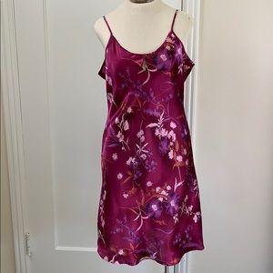 Delicate Treasures plum floral lingerie slip
